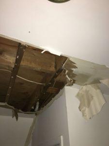 Water Damage Ceiling Peeling Off