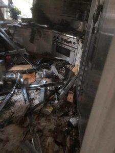Kitchen After Fire Damage