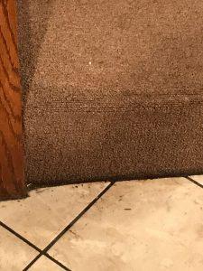 Close up Water Damage Stair Rug